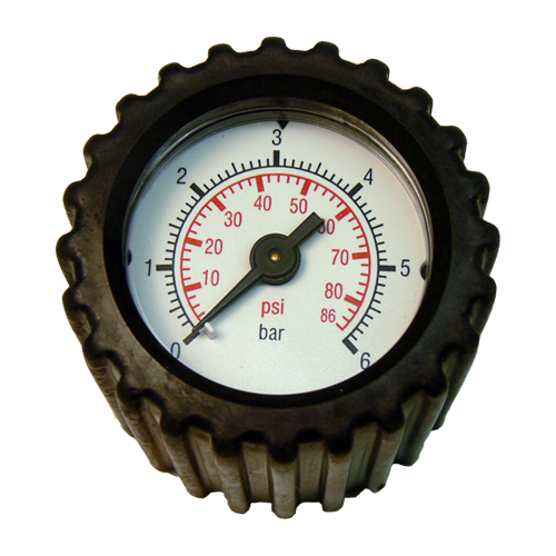 Pressure gauge with connection fittings