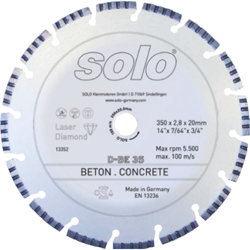 Diamond cutting wheel for CONCRETE